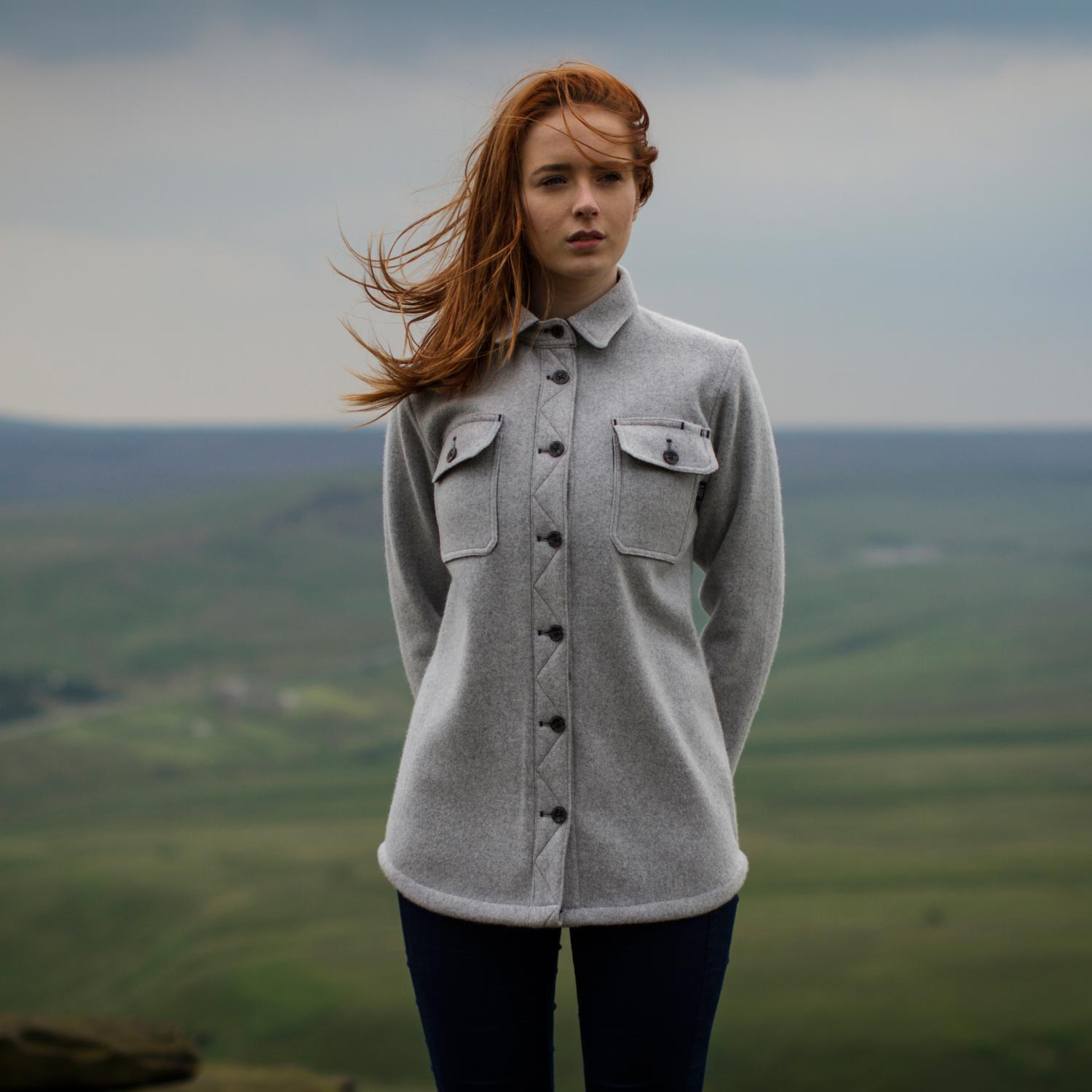 Women 39 s mcnair heavy weight virgin merino mountain shirt for Merino wool shirt womens