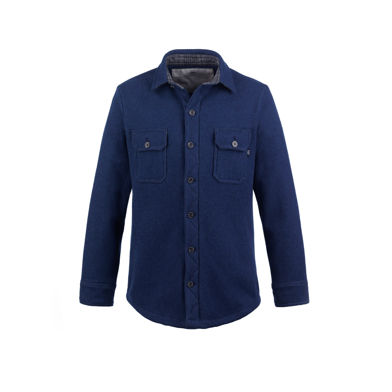 McNair Merino Mountain Shirt in Slawit Blue