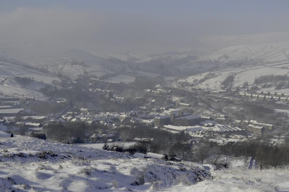 Slaithwaite in snow