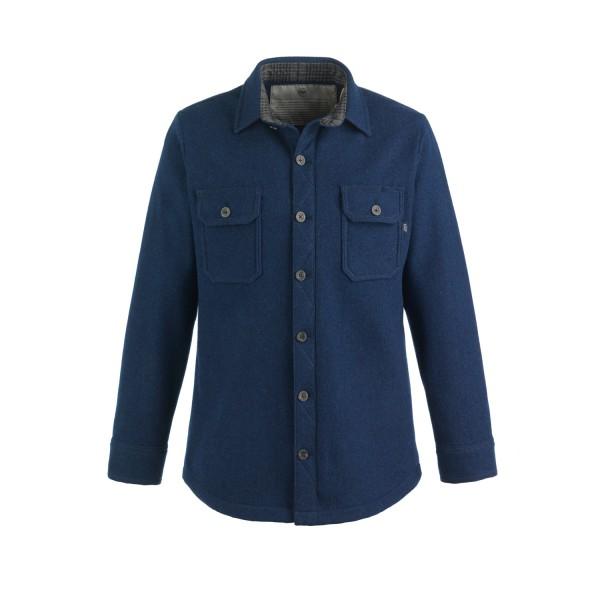 McNair Men's mid weight merino mountain shirt in Slawit blue