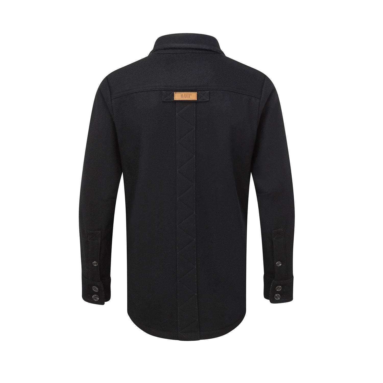 Men's heavy weight merino shirt in black