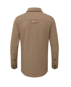 Men's heavy weight merino shirt in camel