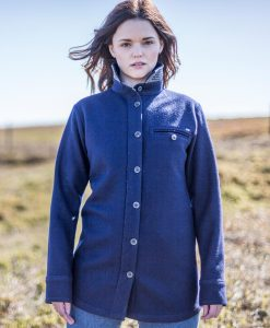 McNair women's merino Fell Shirt in Slawit Blue