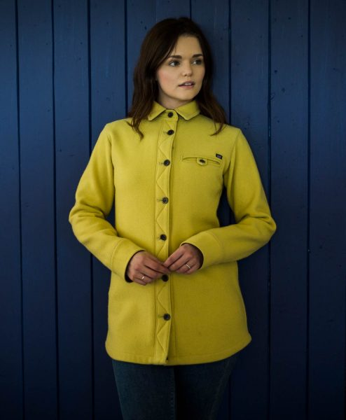 McNair women's merino Fell Shirt in Mustard