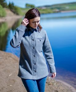 McNair women's merino Fell Shirt in Ash Melange