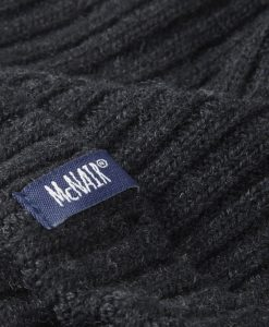 McNair men's beanie hat in charcoal