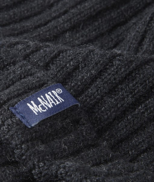 McNair men's beanie hat in charcoal