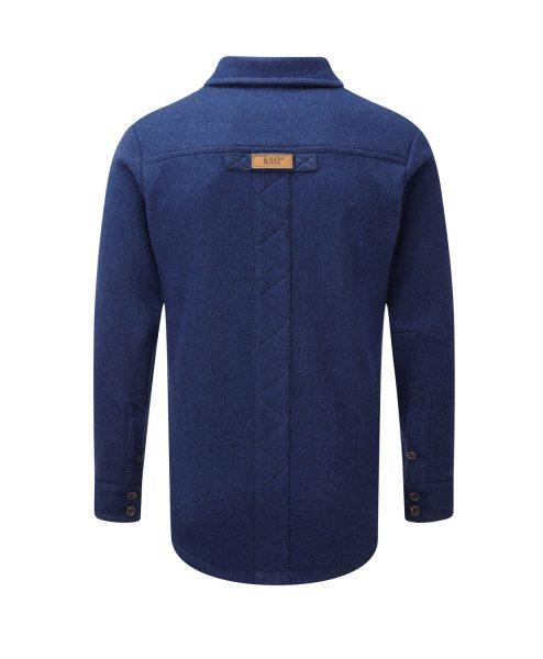 McNair men's merino fell shirt in blue