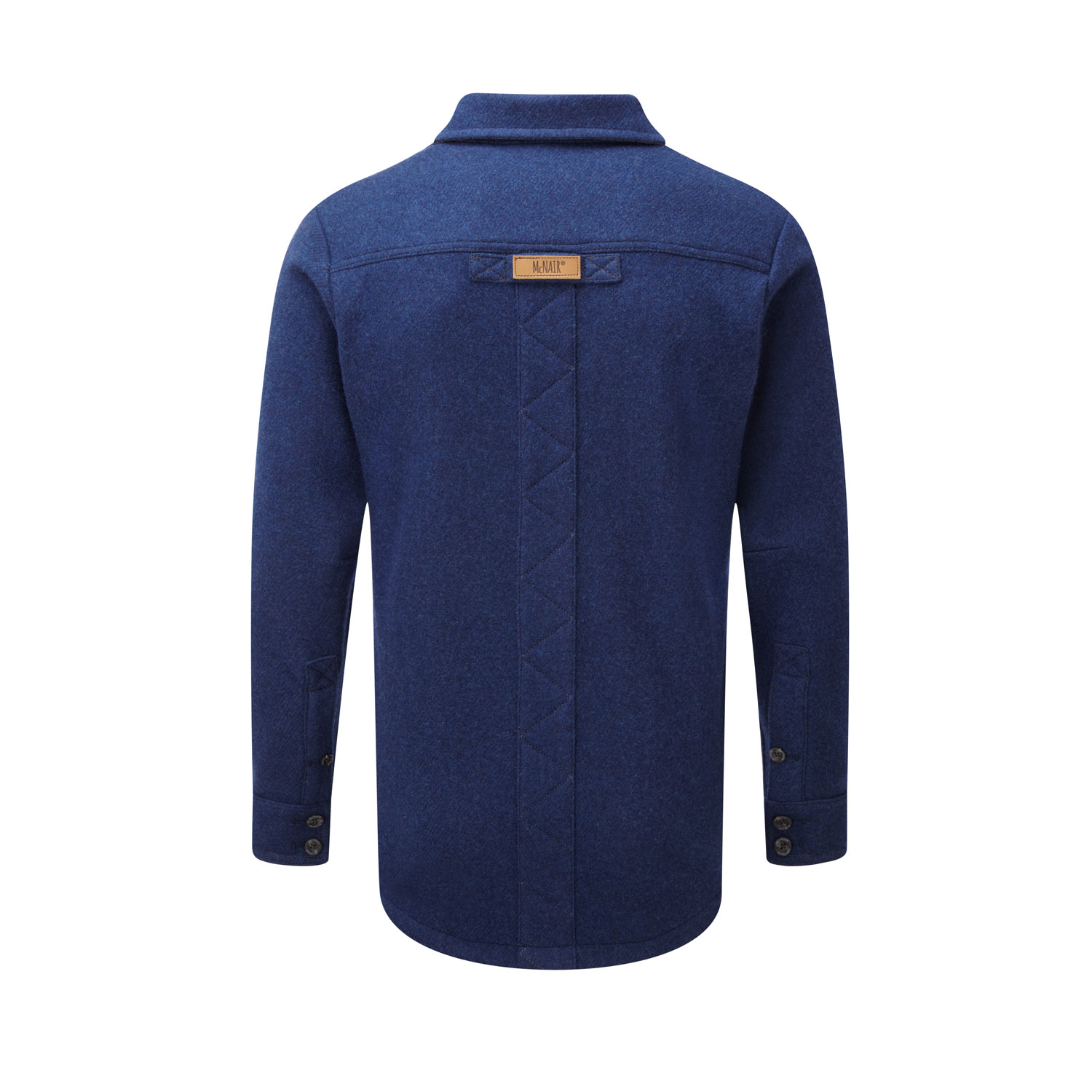 McNair men's merino fell shirt in blue