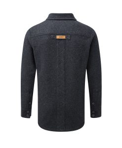 McNair men's merino fell shirt in charcoal