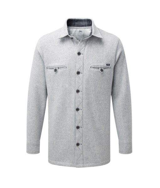 McNair men's merino fell shirt in silver