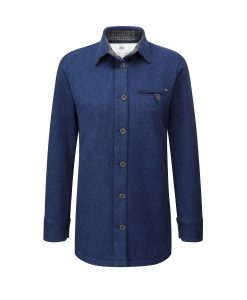 McNair women's merino fell shirt in blue