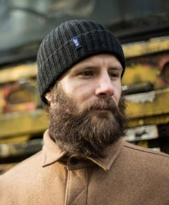 McNair Men's merino hat in charcoal
