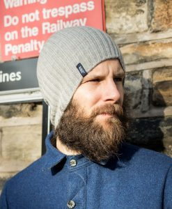 McNair Men's merino hat in silver