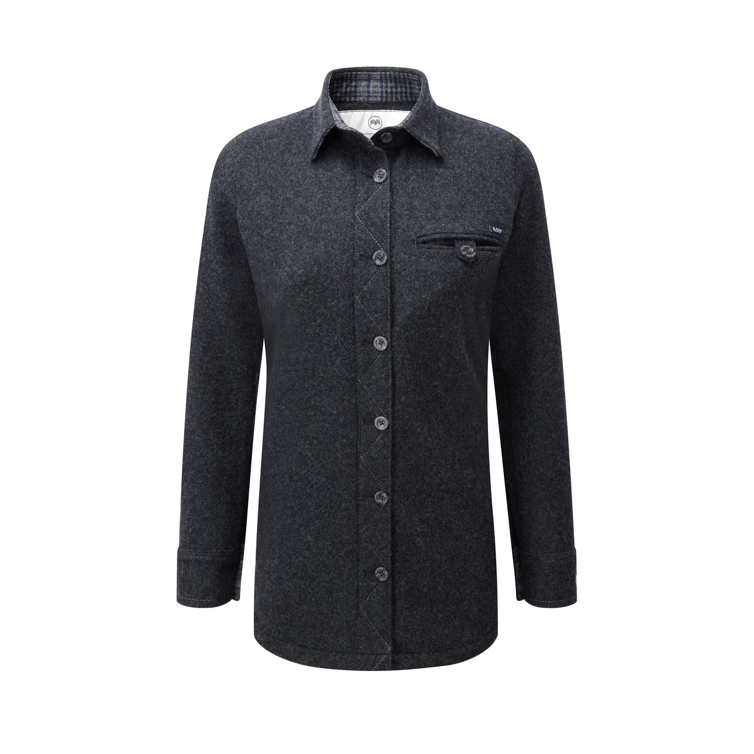 McNair women's merino fell shirt in charcoal