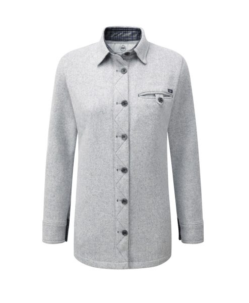 McNair women's merino fell shirt in silver