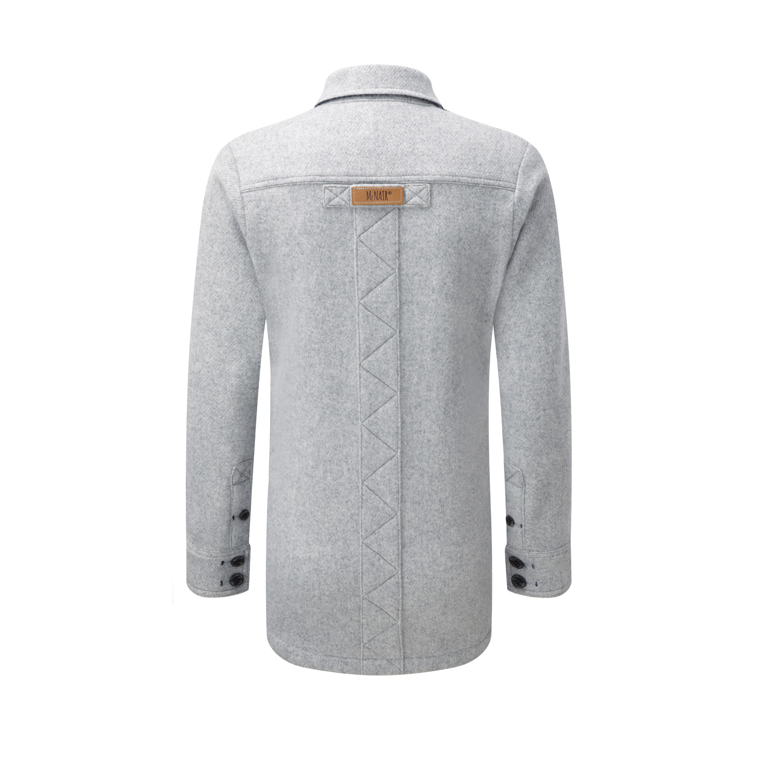 McNair women's merino fell shirt in silver