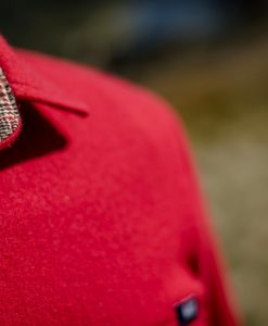 McNair men's merino shirt in Chilli red