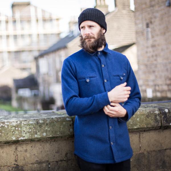 McNair Men's Fell Shirt in Slawit blue