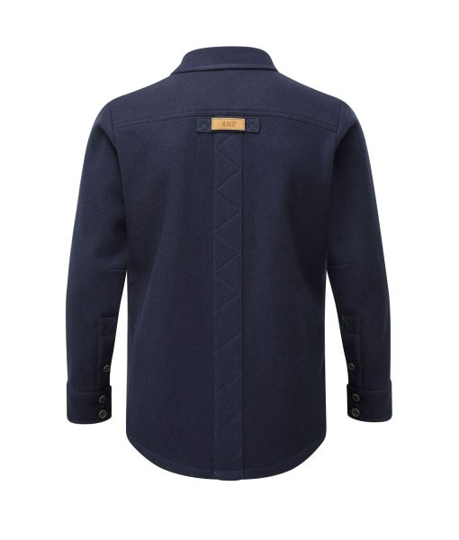 McNair Men's midweight merino Fell Shirt in Classic Navy