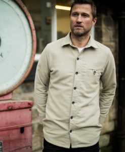 McNair Men's PlasmaDry Moleskin shirt in stone