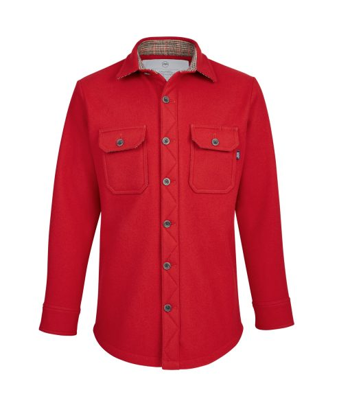 McNair women's Chilli Red merino Mountain Shirt