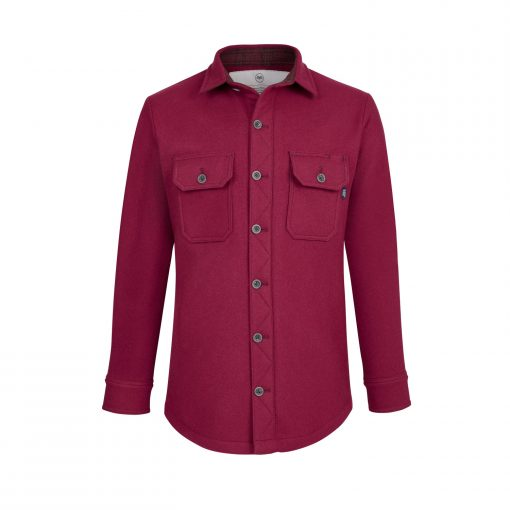 McNair men's merino Mountain Shirt in Heather
