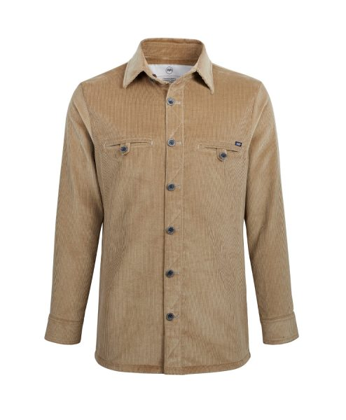 McNair men's PlasmaDry Corduroy Shirt in Sisal