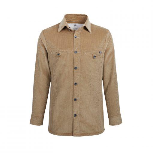 McNair men's PlasmaDry Corduroy Shirt in Sisal