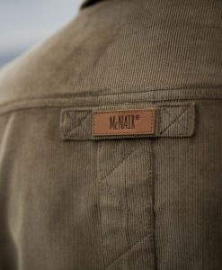 McNair Men's Corduroy Work shirt logo detail