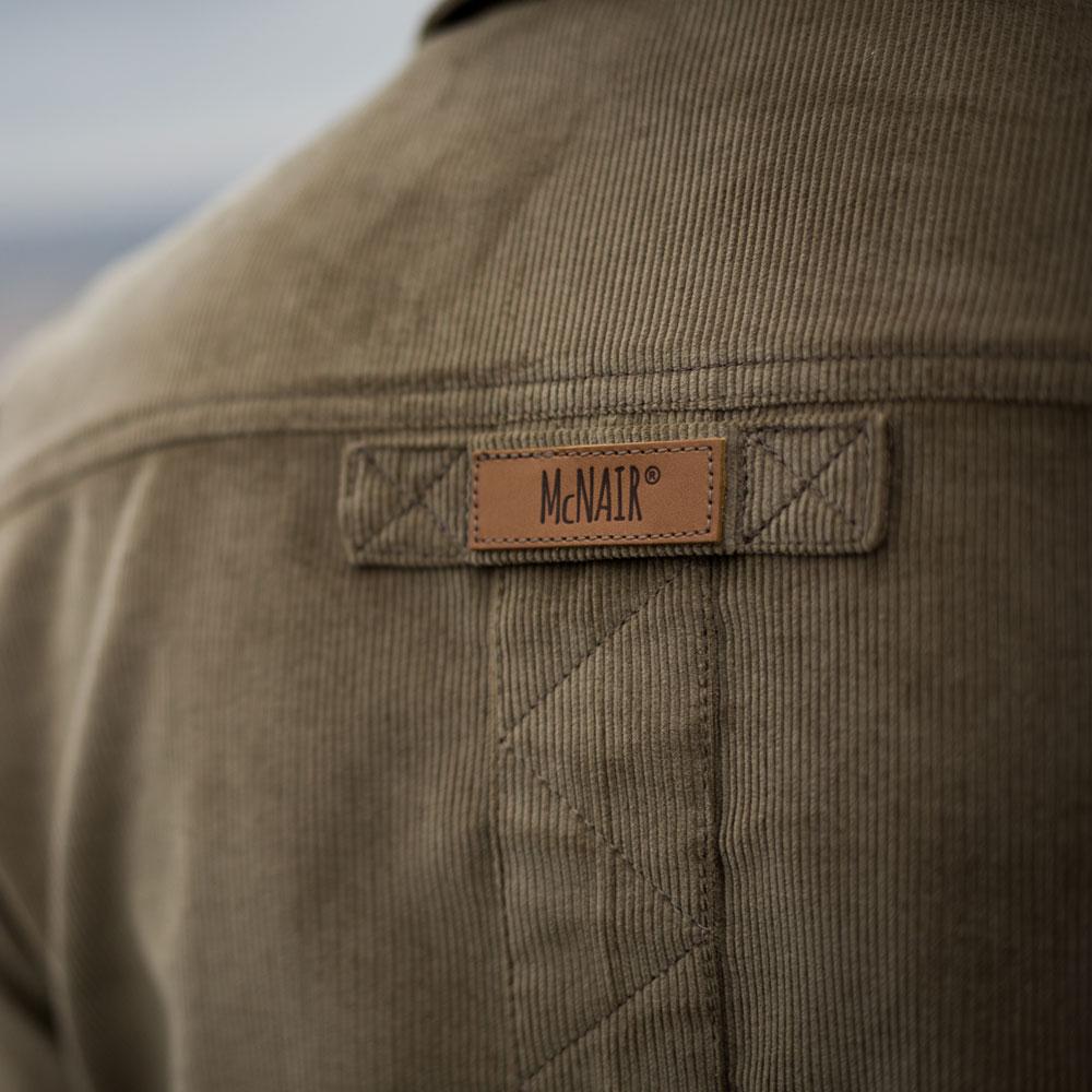 McNair Men's Corduroy Work shirt logo detail