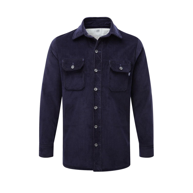 McNair Men's PlasmaDry Corduroy shirt in deep navy