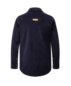 McNair Men's PlasmaDry Corduroy shirt in deep navy