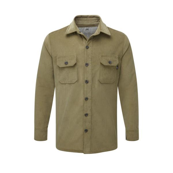 McNair Men's PlasmaDry corduroy shirt in light olive
