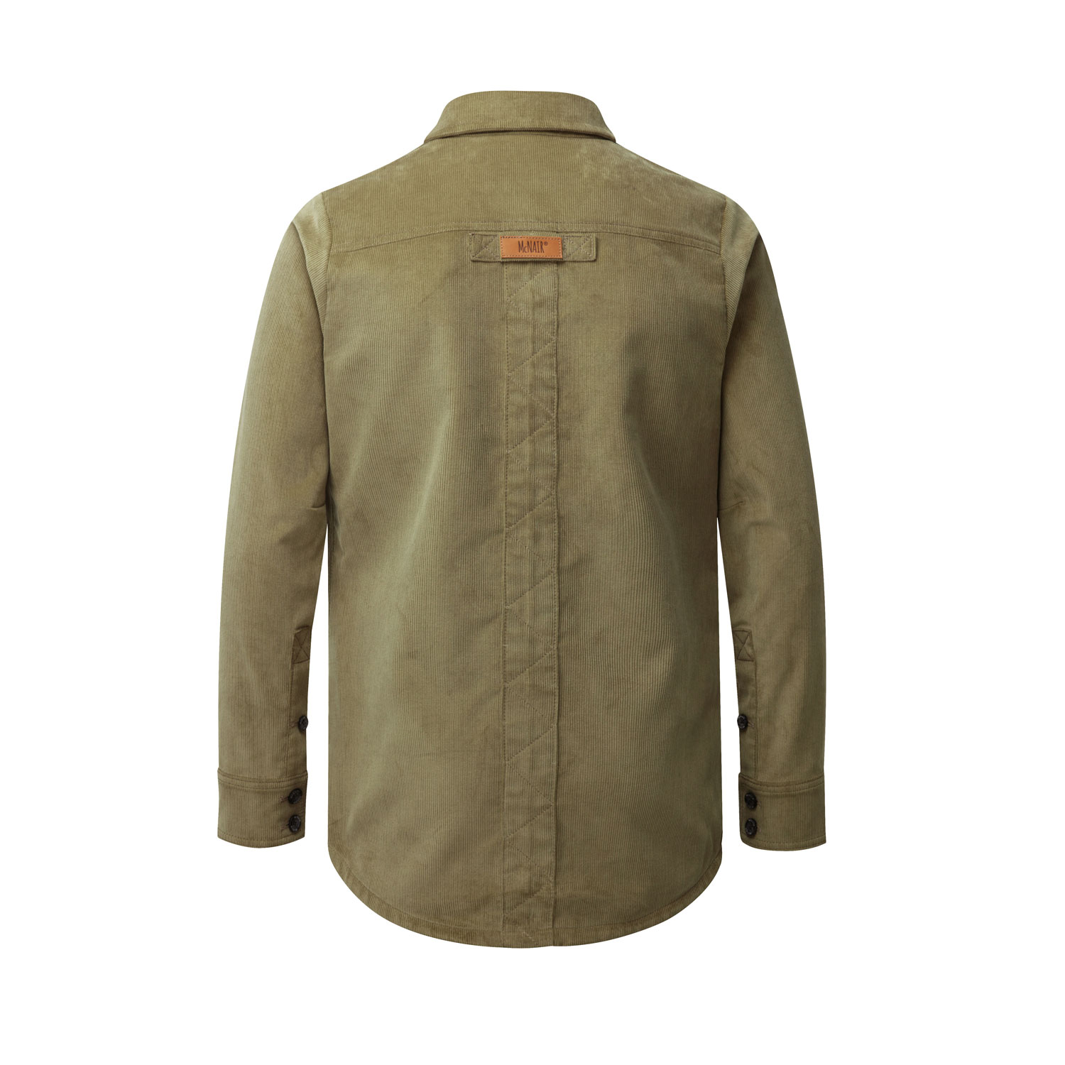 McNair Men's PlasmaDry corduroy shirt in light olive