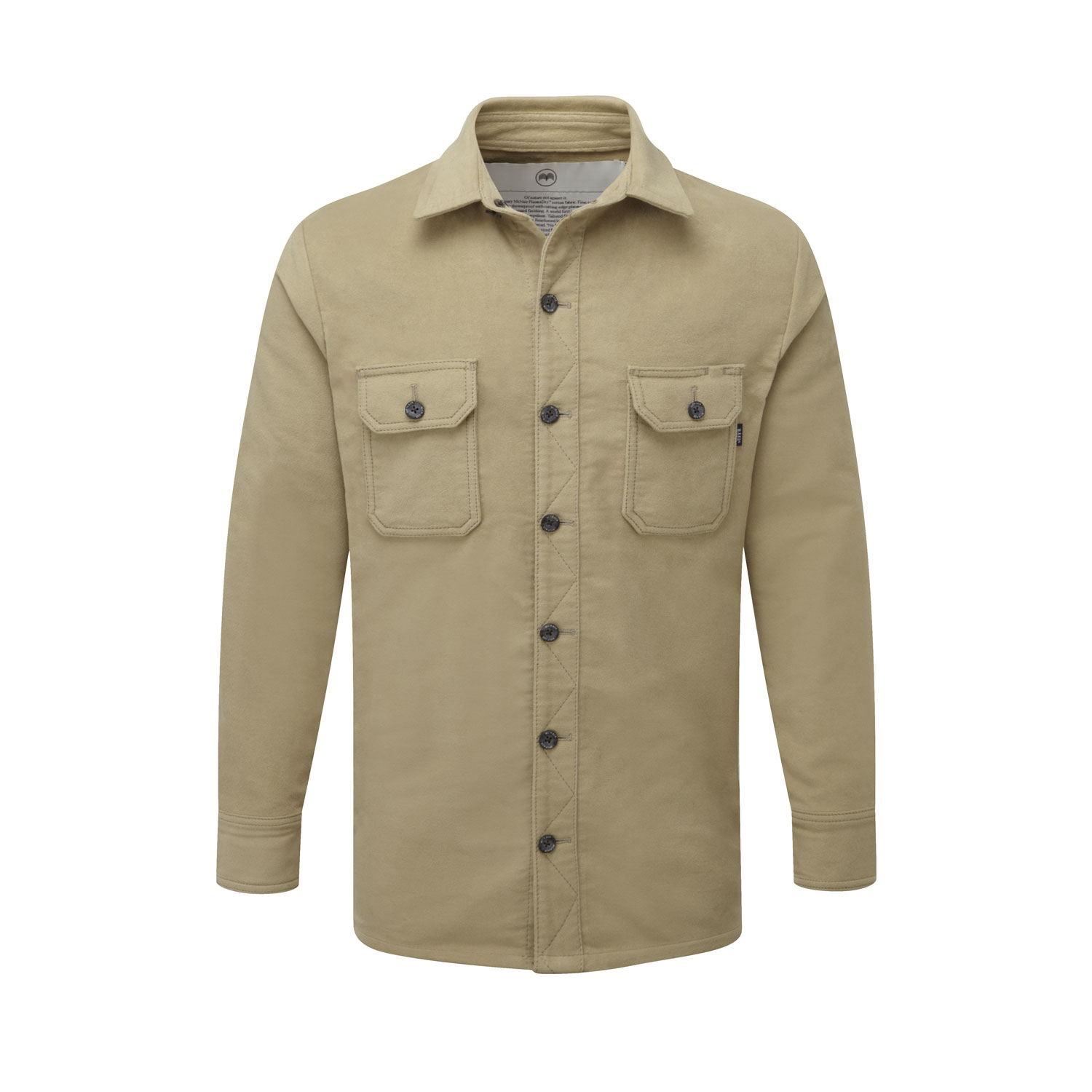 McNair Men's PlasmaDry Moleskin shirt in light khaki