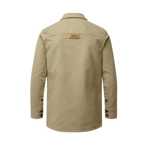 McNair Men's PlasmaDry Moleskin shirt in light khaki