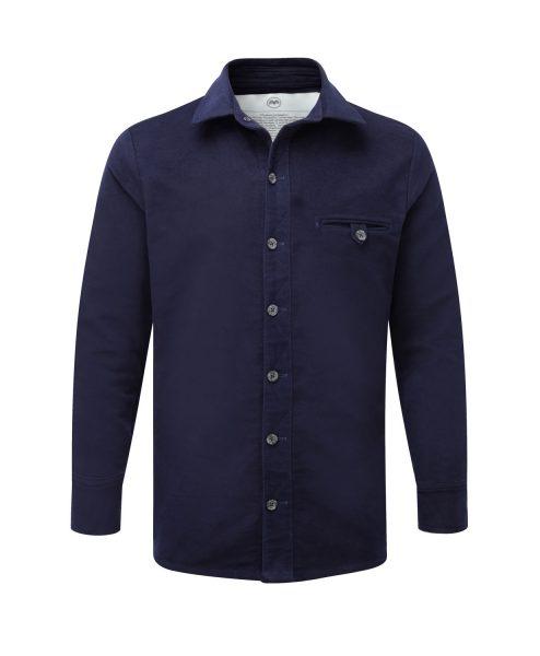 McNair PlasmaDry Moleskin shirt in deep navy