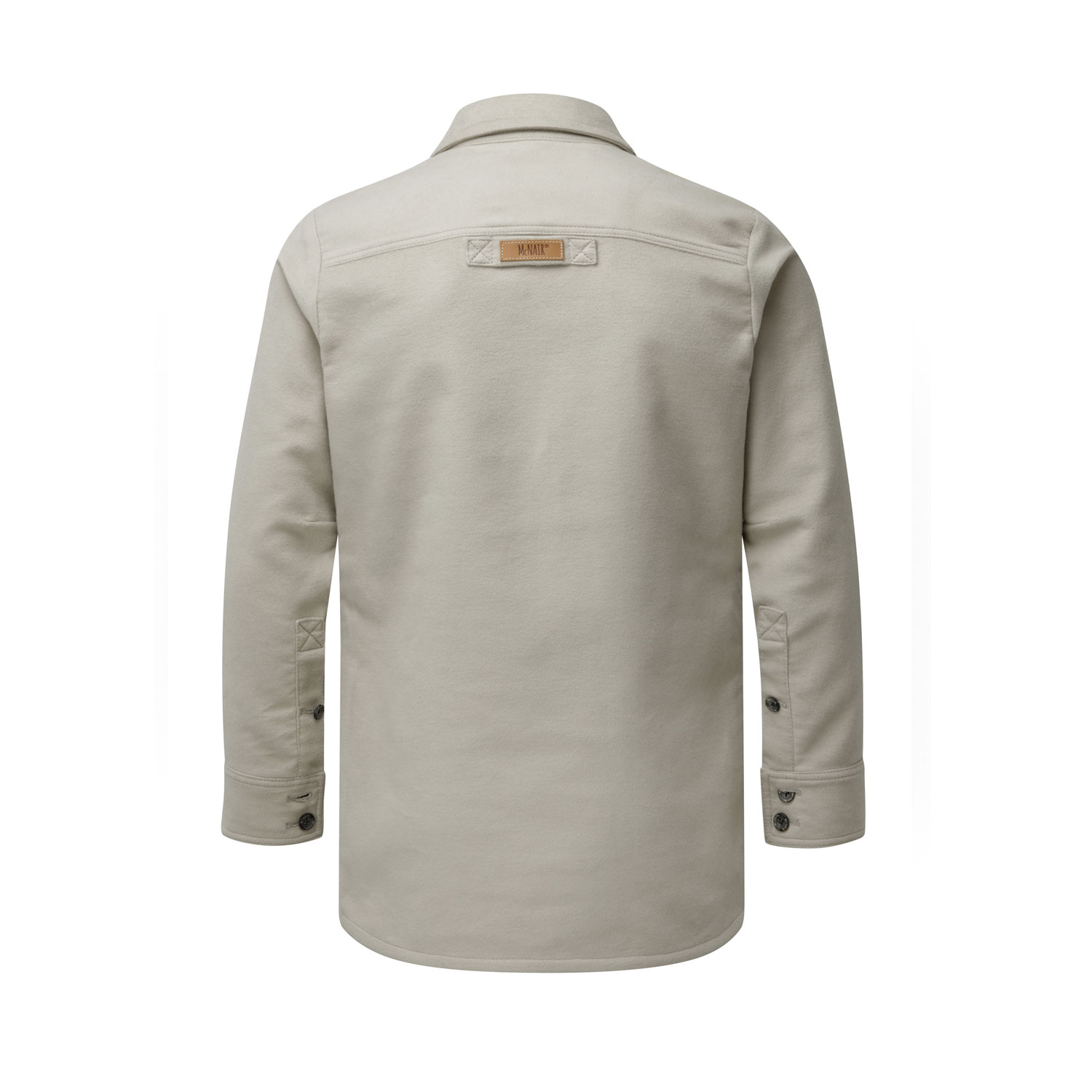 McNair Men's PlasmaDry Moleskin shirt in sisal
