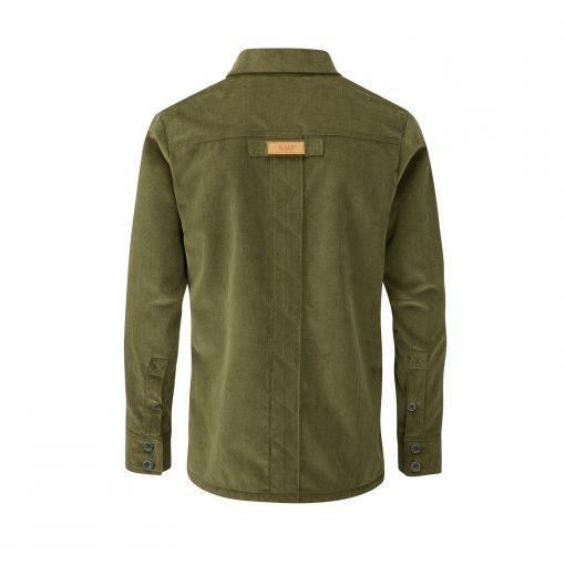 McNair Men's PlasmaDry corduroy Work Shirt in moss green (back)