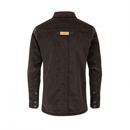 McNair Men's PlasmaDry corduroy Work Shirt in peat brown (back)
