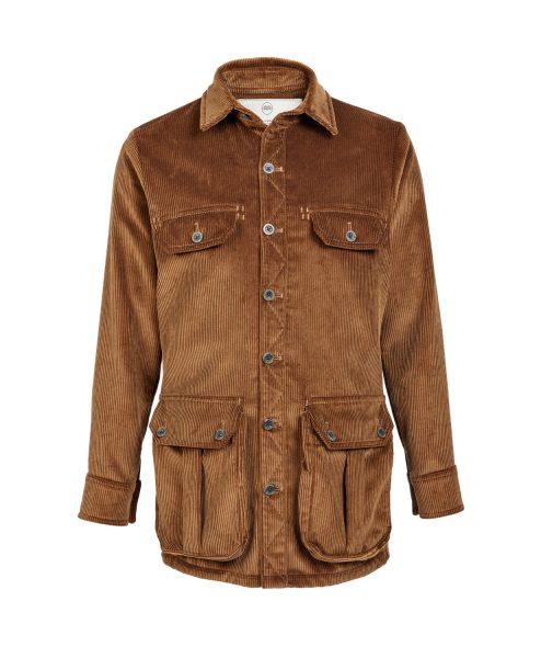 Men's Corduroy Moorland Plasmadry shirt in Bark