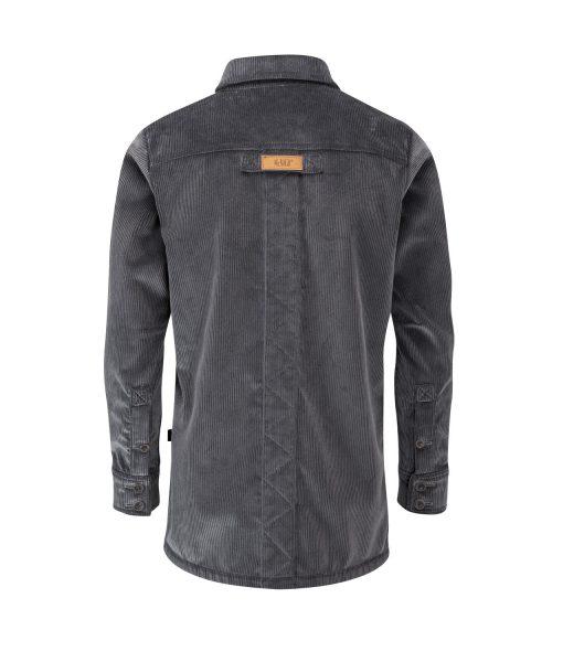 McNair men's PlasmaDry corduroy Moorland Shirt in Lead Grey (back)