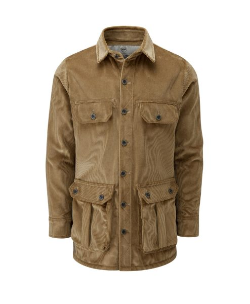 McNair men's corduroy Moorland Shirt in Bracken