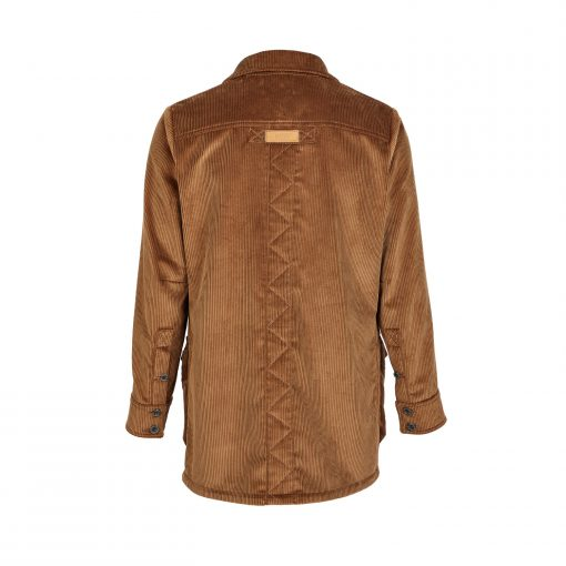 Men's Corduroy Moorland Plasmadry shirt in Bark (Back)