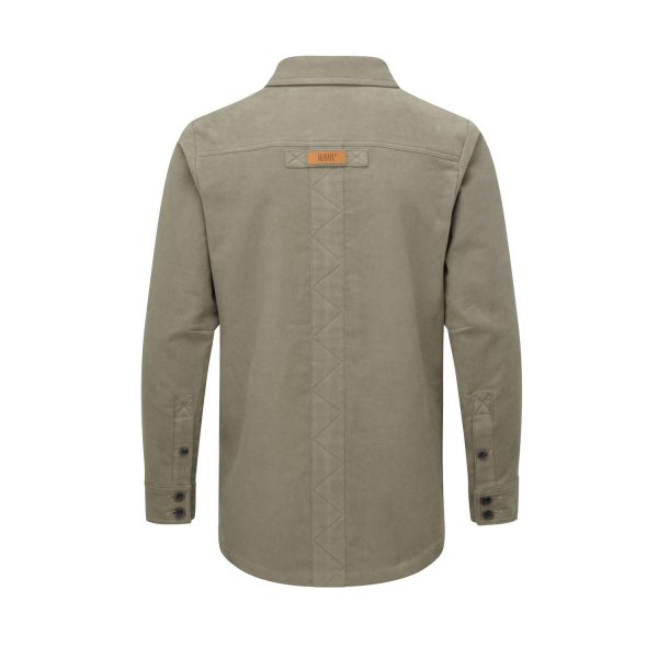 McNair men's moleskin Field Shirt in sandstone