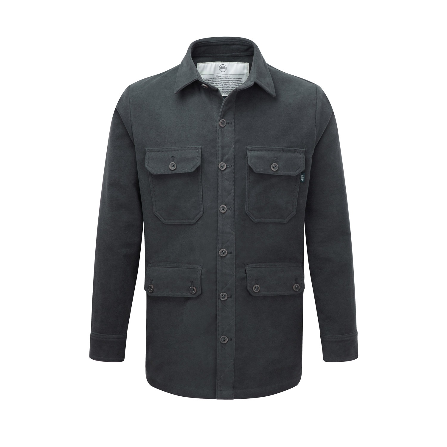 McNair men's moleskin Field Shirt in thunder