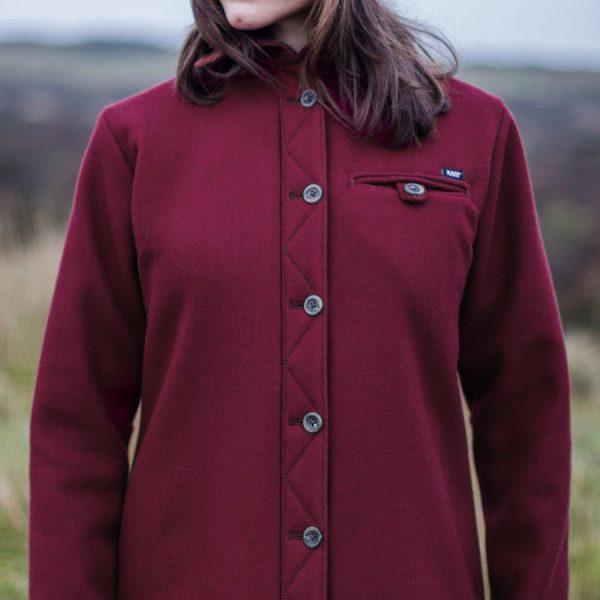Women's merino Fell Shirt in English Mustard