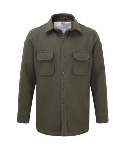 McNair men's heavy weight merino shirt in Dark Sage