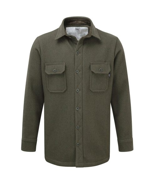 McNair men's heavy weight merino shirt in Dark Sage